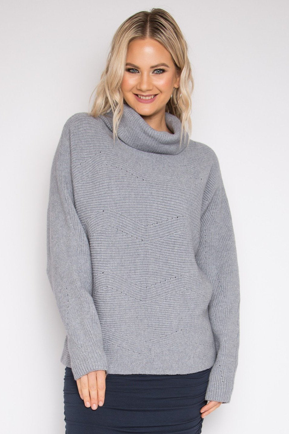 Cosy Knit Top in Ash