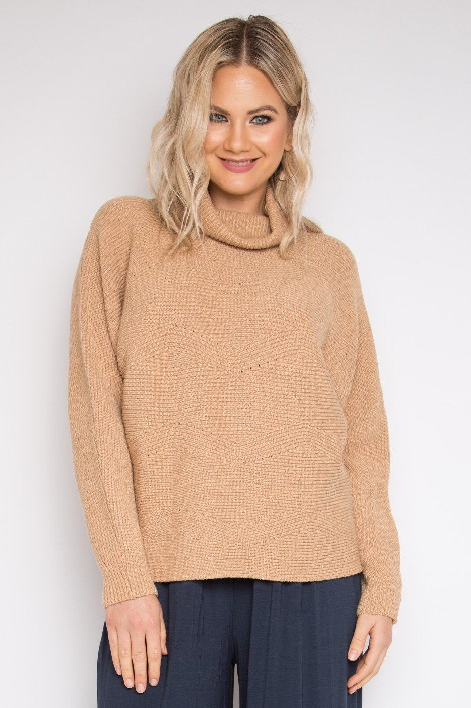 Cosy Knit Top in Caramel