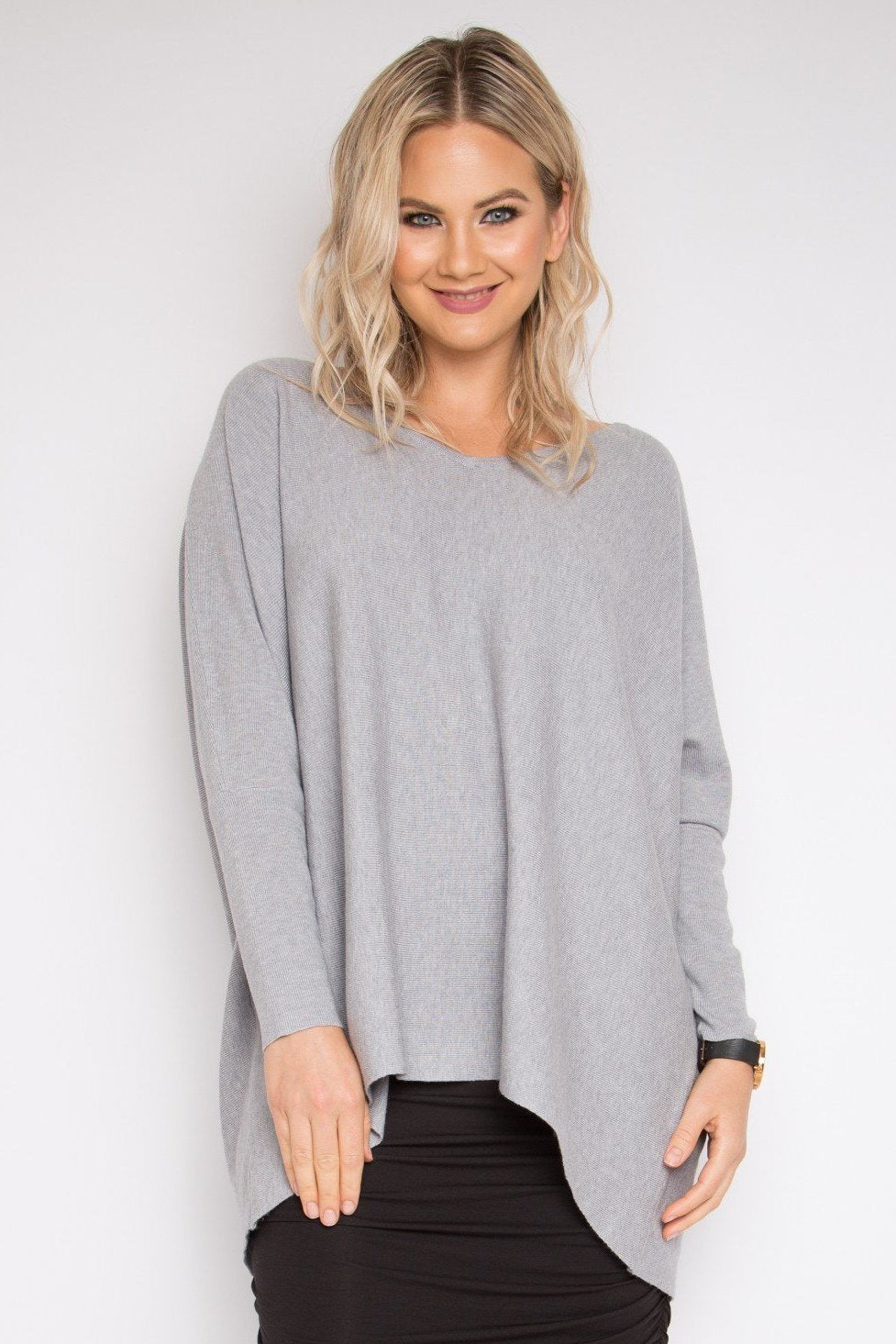 Everyday Knit Top in Ash