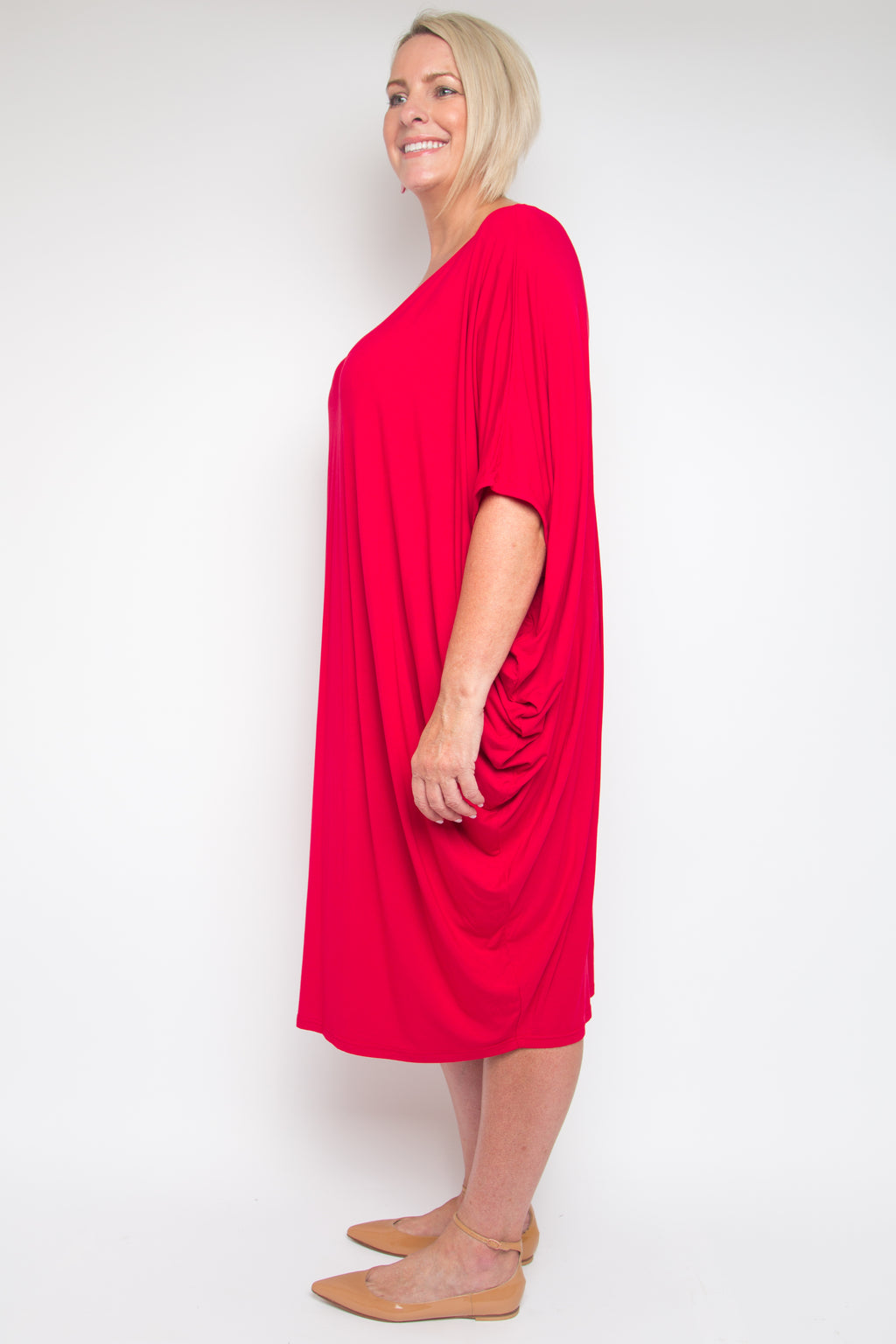 Curve Original Miracle Dress in Cherry Soda (bamboo)