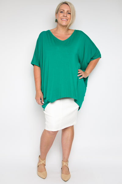 Curve Hi Low Miracle Top in Peacock (bamboo)