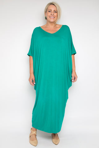 Curve Maxi Miracle Dress in Peacock (bamboo)
