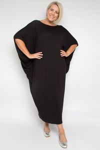 Curve Maxi Miracle Dress in Black (bamboo)