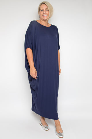 Curve Maxi Miracle Dress in Navy (bamboo)