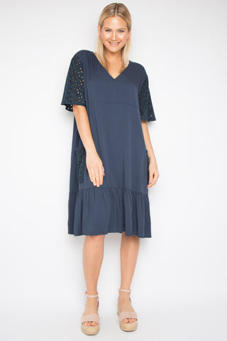 Eloquence Tunic in Navy Anglaise
