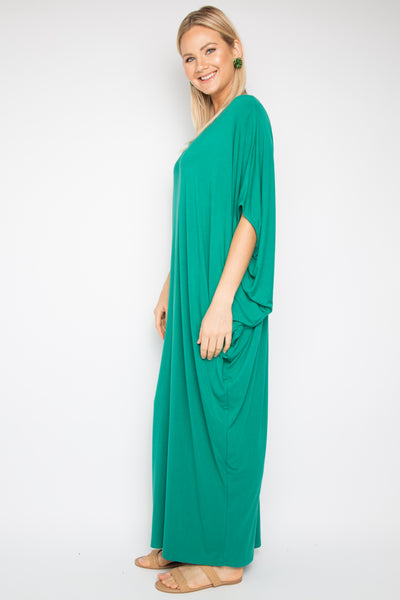 Maxi Miracle Dress in Peacock (bamboo)