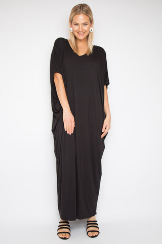 Maxi Miracle Dress in Black (bamboo)