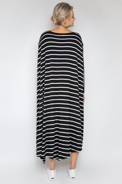 The Ultimate Dress in Black/White Stripe