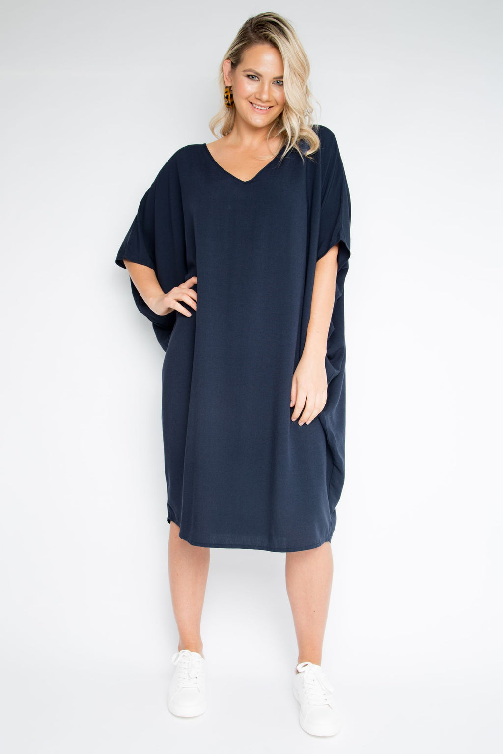 Woven Miracle Dress in Midnight