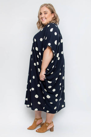 Curve Woven Miracle Dress in Sugar Spot