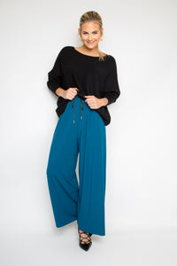PREMIUM BAMBOO Wide Leg Pant in Teal