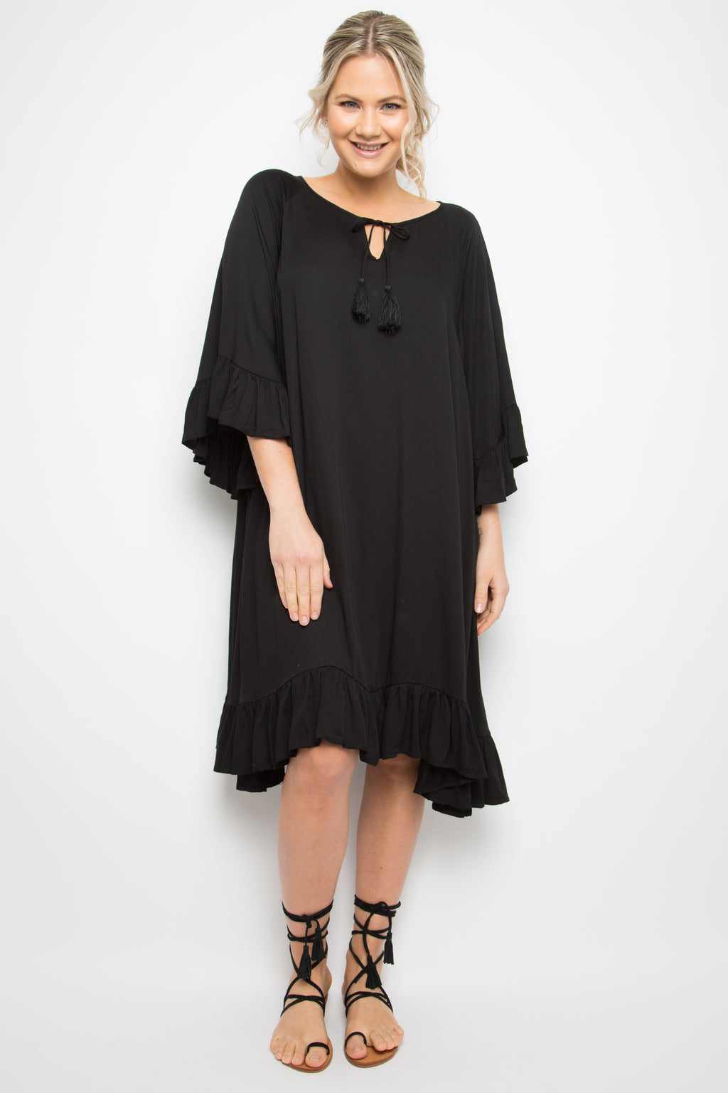 Flyaway Dress in Black