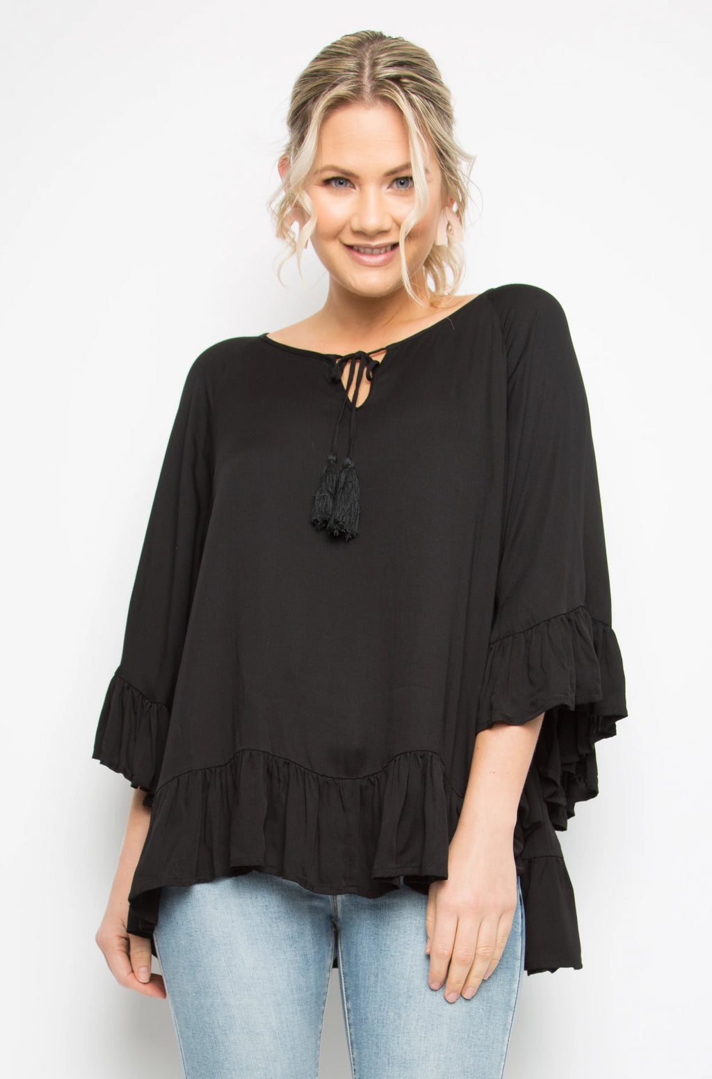 Flyaway Top in Black