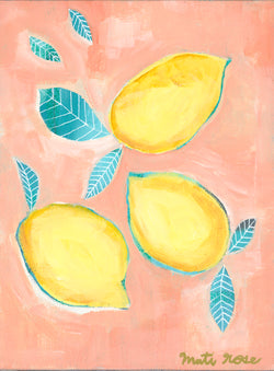 Portofino Lemons—9x12 on canvas (free shipping in US)
