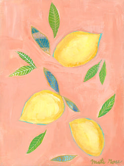 Cascais Lemons— 9x12 on canvas (free shipping in US)