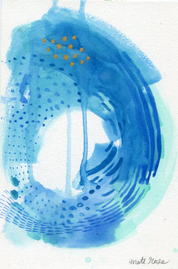 Nosara Surf No. 3— Original Watercolor 9x6