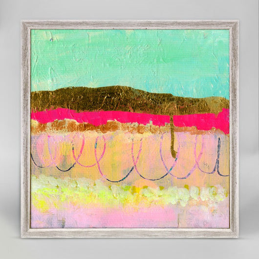 SUNSHINE MINT MAGENTA GOLD LAYERS- Giclee on Canvas