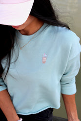 Kosan Eats Bubble Tea Cropped Sweater
