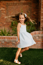 The Heather Dress in Sky Blue