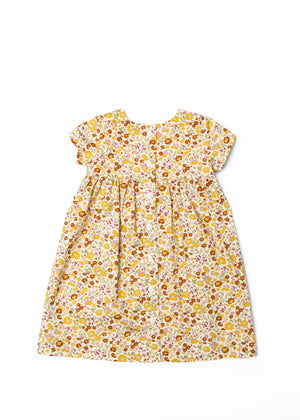 The Dolly Dress in Mustard Floral