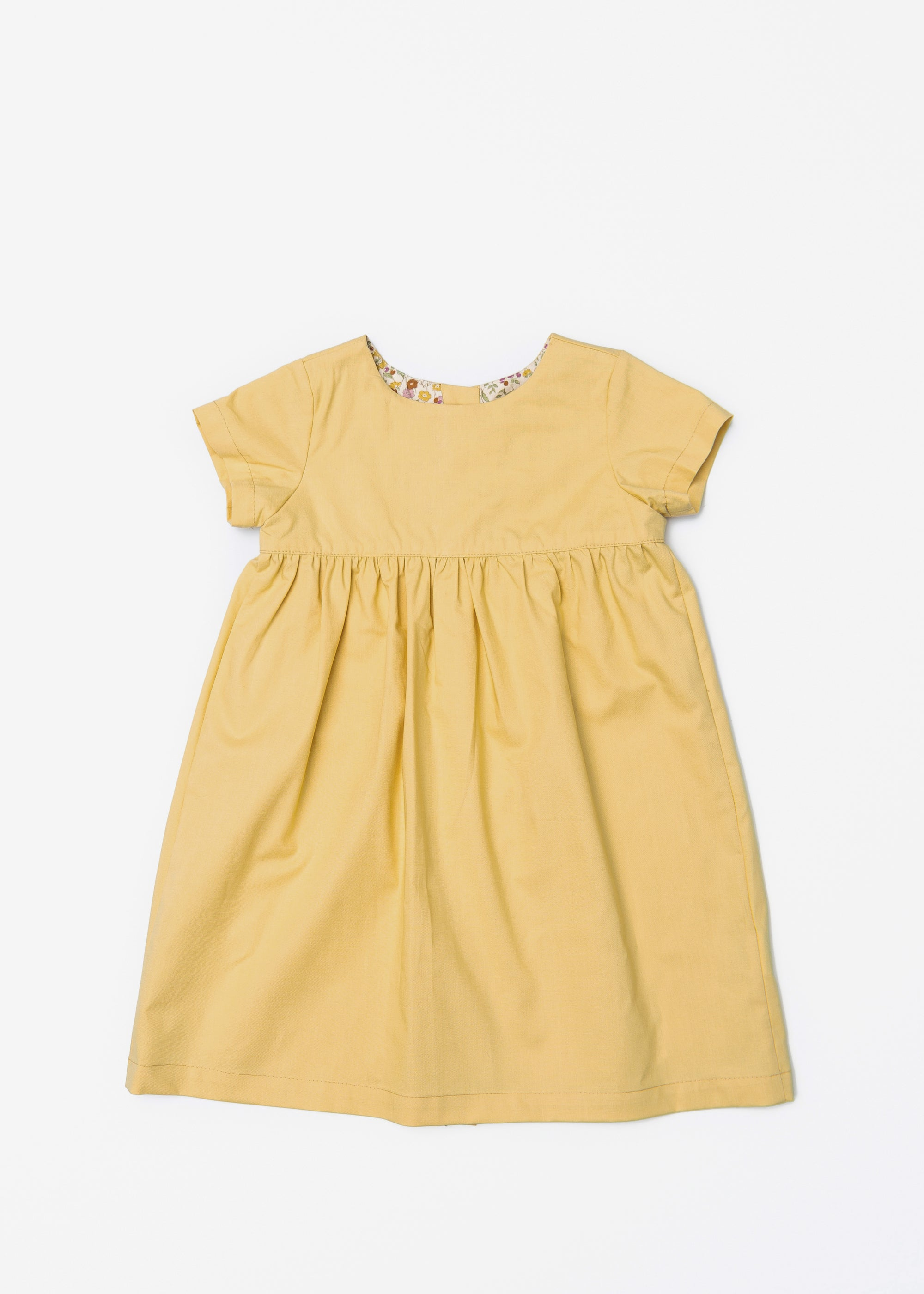 The Dolly Dress in Mustard