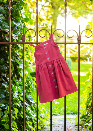 The Heather Dress in Rosy Red