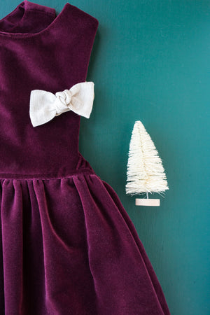 Harper Pinafore in Winterberry Velvet