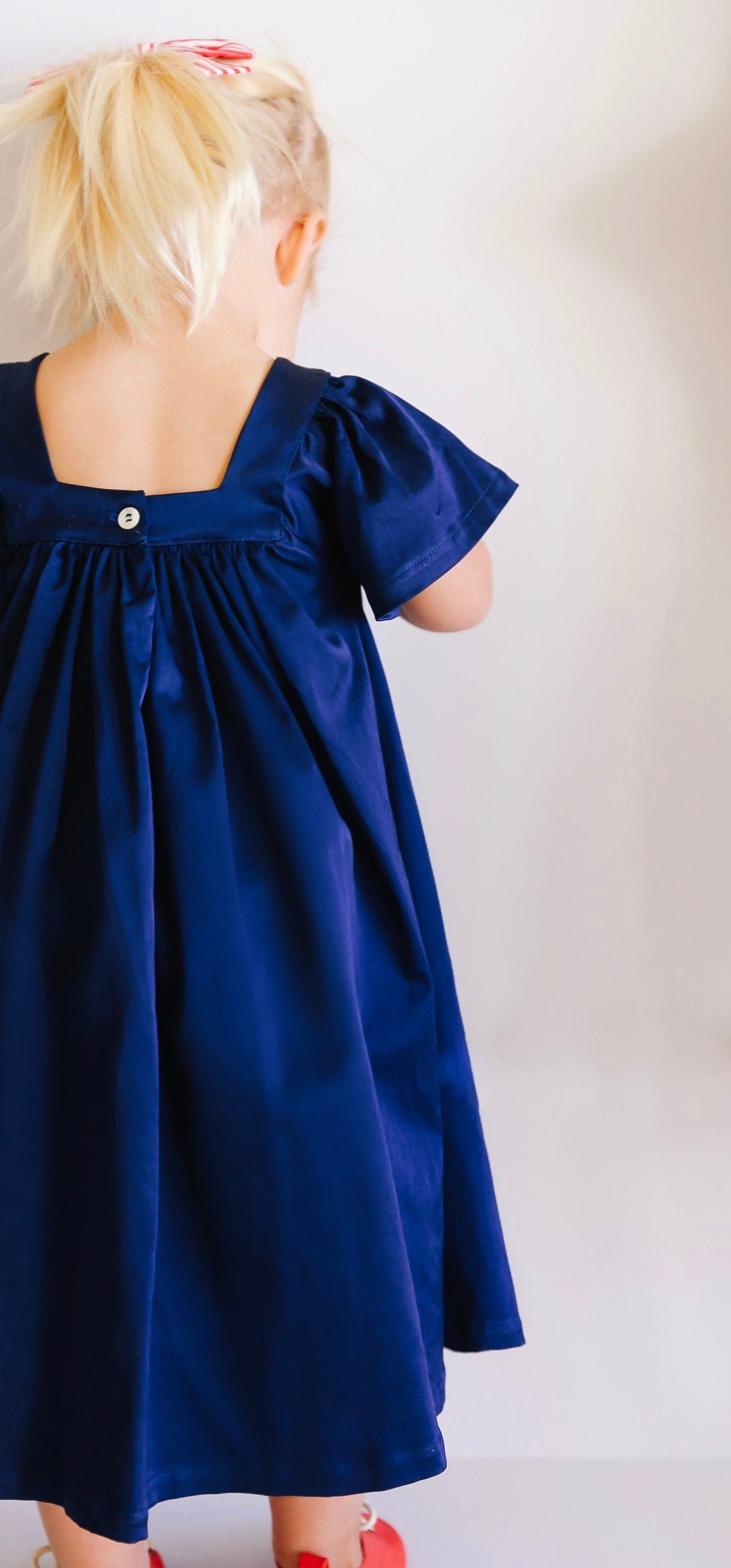 The Holly Dress in Navy