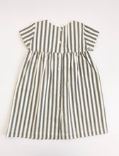 The Dolly Dress in Charcoal Stripe