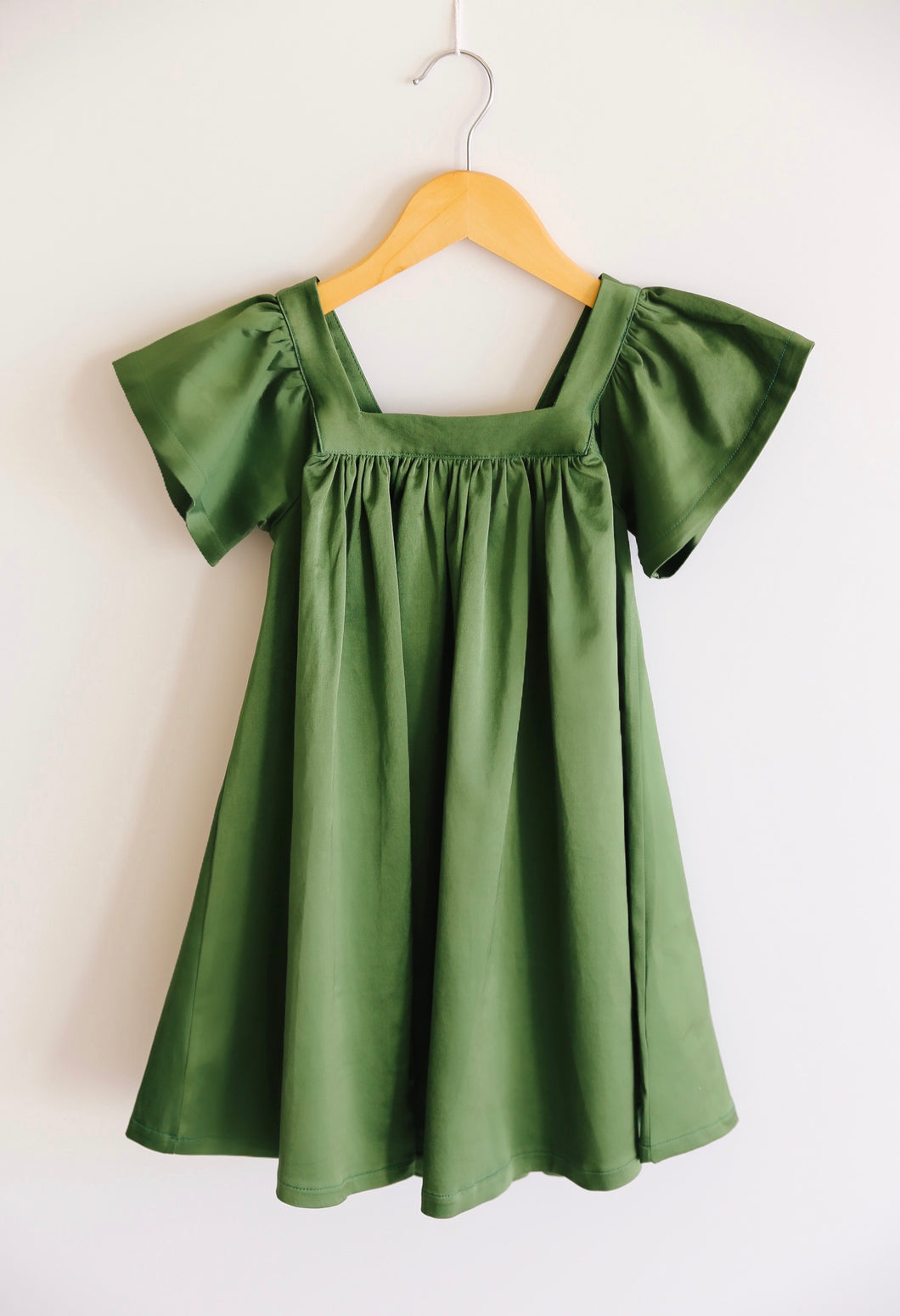 The Holly Dress in Olive