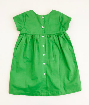 The Dolly Dress in Emerald