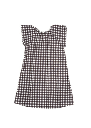 Flutter Sleeve Nightgown in Black Check
