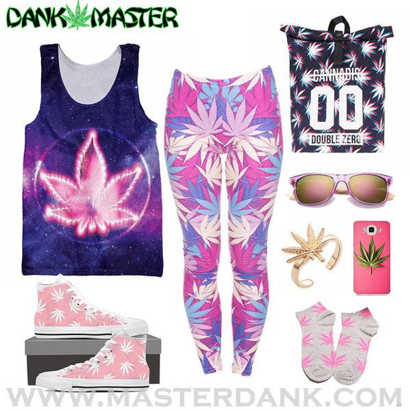 Pink Weed Outfit
