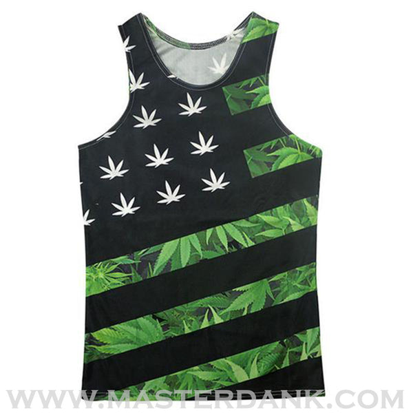 Dank Master Apparel weed clothing, marijuana fashion, cannabis shoes, and hats for stoner men and women 420 tank top