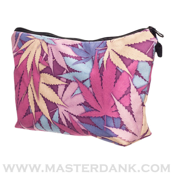 Dank Master 420 Apparel weed clothing, marijuana fashion, cannabis shoes, and hats for stoner men and women pink pouch makeup bags