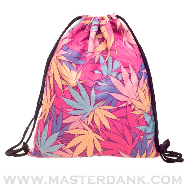 Dank Master 420 Apparel weed clothing, marijuana fashion, cannabis shoes, and hats for stoner men and women pink bag