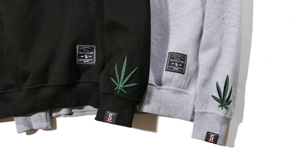 dank master simple weed leaf sweatshirt