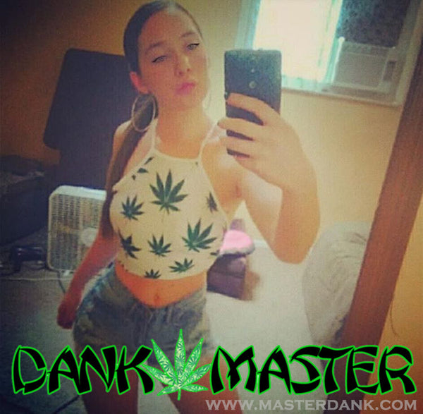 Dank Master 420 Apparel weed clothing, marijuana fashion, cannabis shoes, hoodies, pot leaf shirts and hats for stoner men and women crop top
