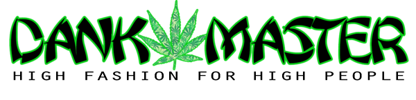 Dank Master logo banner 420 Apparel weed clothing, marijuana fashion, cannabis shoes, hoodies, pot leaf shirts and hats for stoner men and women.