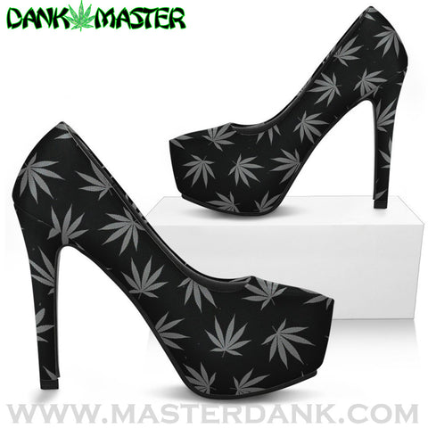 Dank Master high heels 420 Apparel weed clothing, marijuana fashion, cannabis shoes, hoodies, pot leaf shirts and hats for stoner men and women.