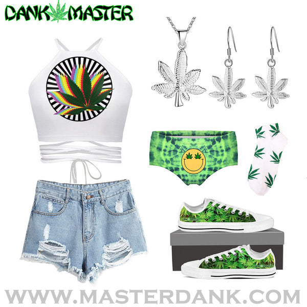 Dank Master 420 Apparel weed clothing, marijuana fashion, cannabis shoes, hoodies, pot leaf shirts and hats for stoner men and women outfit crop top