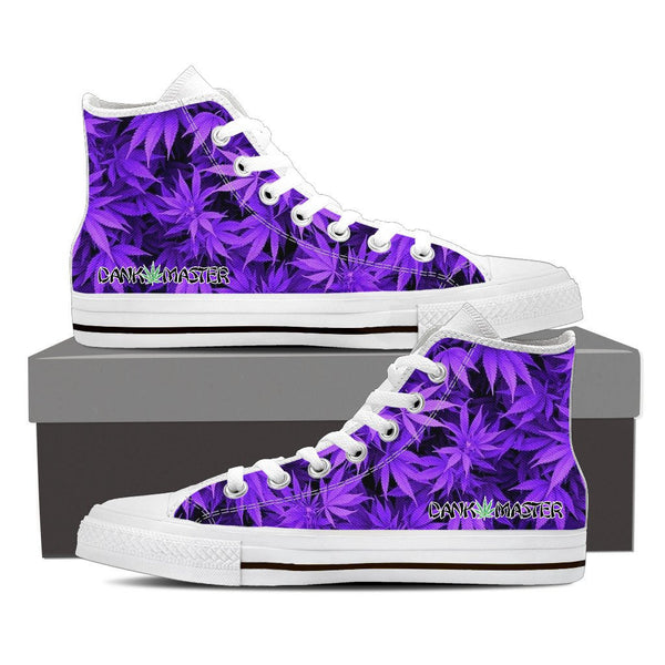 Details about Dank Master Men Shoes custom purple weed leaf marijuana cannabis sneakers