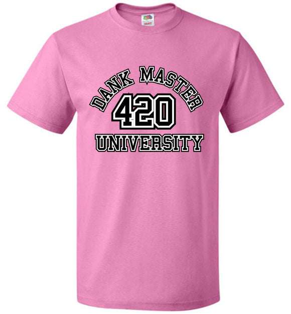 Dank Master 420 University T-shirt - Pink & Red - Dank Master