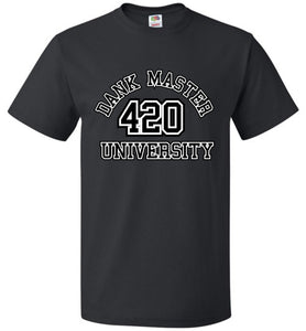 Dank Master 420 University T-shirt - Black - Dank Master