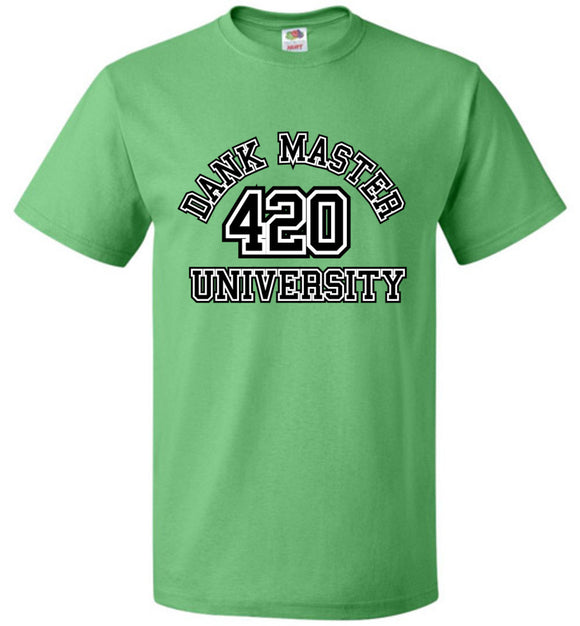 Dank Master 420 University T-shirt - Green - Dank Master