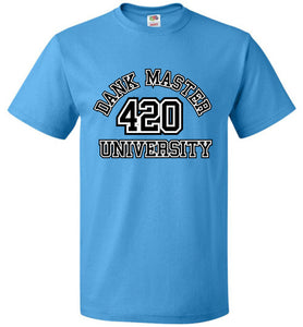 Dank Master 420 University T-shirt - Blue [5 colors] - Dank Master