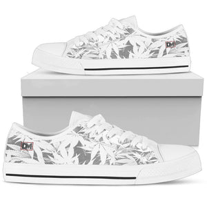 Dank Master OG White Custom Weed Leaf Canvas Low Top Shoes