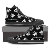 Dank Master Weed High Top Canvas Shoes - Black [2 colors] - Dank Master