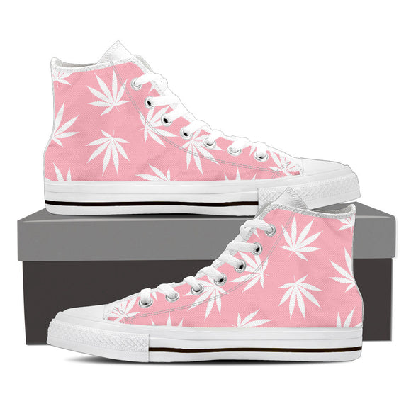 Dank Master Weed High Top Canvas Shoes - Pink