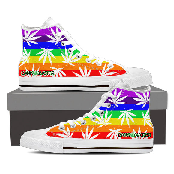 Dank Master Weed High Top Canvas Shoes - Rainbow [2 colors]